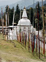 Chenbedbji chorten in eastern Bhutan