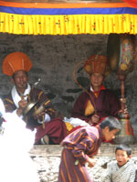 Monk musicians at festival