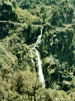 Waterfall in east Bhutan