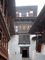 Interior of dzong