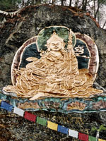 Rock carving of Guru Rinpoche