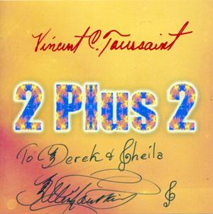 CD cover autographed by Allen & Vincent Toiussaint