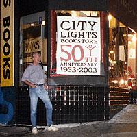 Derek Henderson at City Lights bookshop 2003