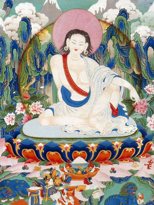 Milarepa thanka detail