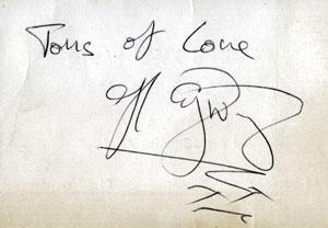 John Otway autograph