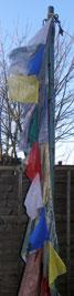 New prayer flags at Losar 2006